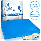 Flexlet Premium Balance Pad - Mit gratis Yoga Strap - Inklusive E-Book mit zusätzlichen Übungen - Gleichgewichtstrainer mit rutschfestem Boden - Balance Kissen für effektives Balancetraining