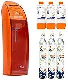 Trinkwassersprudler Wasser gas-up Italien Orange + 3bott. von 1Lt + 3Gasflaschen CO2-450GR