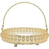Shivika Enterprises Basket For Flower Earthen Lamp Incense Stick Dhoop Sandal Rosery Beads & Other Pooja Items