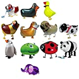 YeahiBaby 12 unids Animal Walking Globos Animal Foil Globos Fiesta de...