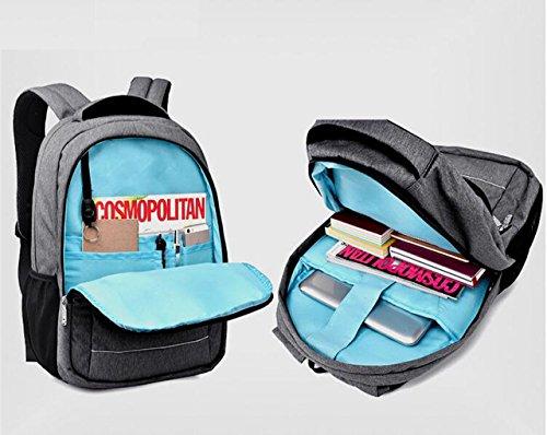 awland Laptop Rucksack Multifunktional Unisex Gepäck & Travel Bags Rucksack Rucksack Rucksack Wandern Taschen Studenten Schule Rucksäcke für bis zu 38,1cm Laptop Macbook Computer schwarz schwarz Grau - Light Gray