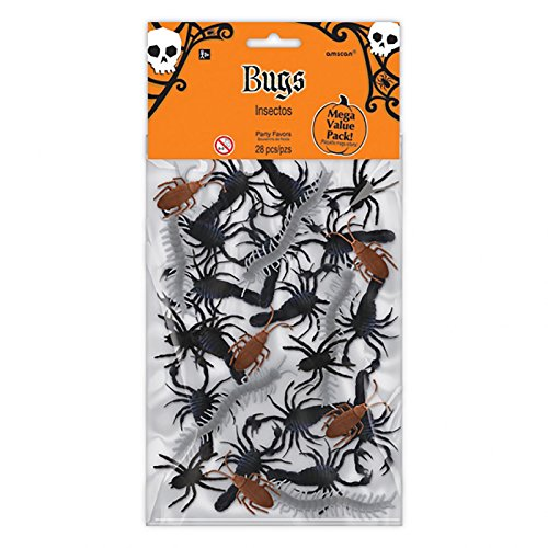 Card and Party Store Halloween Bugs 28 Stück Party Dekorationen Krabbeltier Horror Insekten