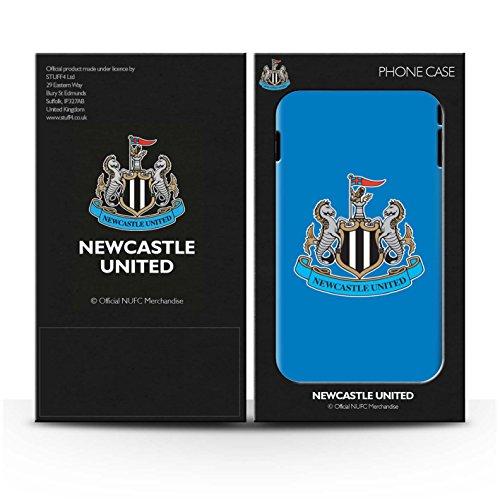 Officiel Newcastle United FC Coque / Clipser Brillant Etui pour Apple iPhone X/10 / Mono/Bleu Design / NUFC Crête Football Collection Couleur/Bleu