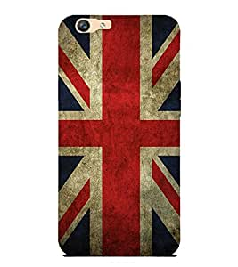 Takkloo flag of england ( Plus sign on flag, Red colour flag, trendy cover) Printed Designer Back Case Cover for Oppo F1s