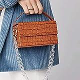 HHdstb Frau Braun Farbe Mode Transparent Kette Temperament Box Form Korn Handtasche Messenger Taschen Box Paket -