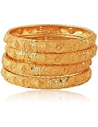 Royal Gold Plated Traditional Handmade Meenkari Bangle/Kadda/Kangan For Women & Girls