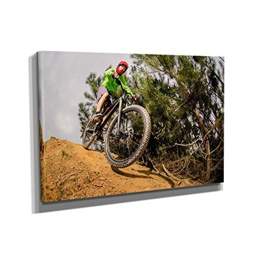 Nerdinger Downhill Forest - Kunstdruck auf Leinwand (30x20 cm) zum Verschönern Ihrer Wohnung. Verschiedene Formate auf Echtholzrahmen. Höchste Qualität. -