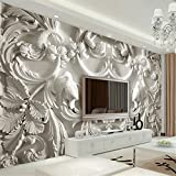 Hwhz Classical White European Style Relief 3D Tv Background Wall Murals Living Room Hotel Interior Home Decor Wallpapers-400X280Cm