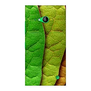 Cute Pattern Leaf Back Case Cover for Lumia 730