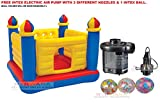 #7: INTEX Inflatable Jump-O-Lene Ball Pit Castle Bouncer With Intex Electric Air Pump AND INTEX INFLATABLE FUN BALL.