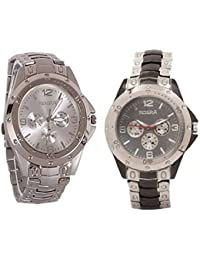 Tutile Stylish Dial Analogue Round Exclusive Pack Of 2 Combo Wrist Watches For Men And Boys