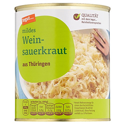 Tegut Mildes Weinsauerkraut, 770 g