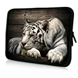 "Laptoptasche Notebooktasche 15"" - 15.6"" zoll Fall Neopren für Notebooks Dell HP Macbook Samsung Apple Toshiba*White tiger*"
