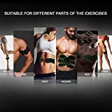HONITURE Muscle Stimulator, EMS Abs Trainer Abdominal Belt USB Rechargeable Muscles Toner for Abs Arms Legs with 12PCS Replacement Gel Pads & Abs Support Belt & 8 Modes 10 Levels for Men&Women
