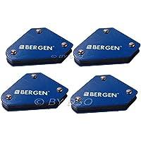 BERGEN - Pack de 4 supports d'angle soudure magnétique 9lb BER6680