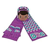 Doctora Juguetes 2200000348 - Set de 3 piezas con bufanda, gorro y guantes para niños, color azul, talla única