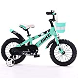 Kinderfahrräder 12/14/16/Zoll 2-5-8 Jahre alt Jungen und Mädchen Kinder Fahrrad Dreirad Grün (Size : 14 inches)