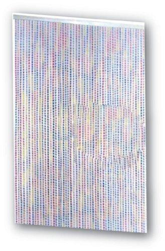 Tenda moschiera 125x230 cm mod. twister con filamenti in pvc multicolor