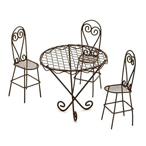 Darice Gabarit d'embossage en métal intemporel miniatures-wire Ensemble table et chaises de jardin