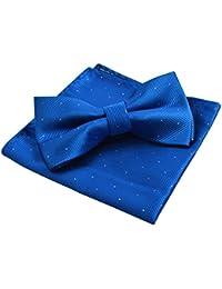 Alizeal Mini Topos-Pajarita y Pañuelo para Hombre Azul Klein