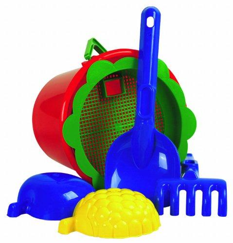 Imagen principal de Idena 7113460  - Cubo set 6 - pieza, cubos, colador, palas, rastrillos, 2 moldes (surtido)
