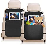 YZCX 2 Pezzi Protezione Sedili Auto Bambini Proteggi Sedile Organizzatore Sedile Posteriore Impermeabile con supporto trasparente per iPad tablet per Car SUV Minivan Camion Seats