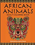 African Animals: Adult Coloring Book