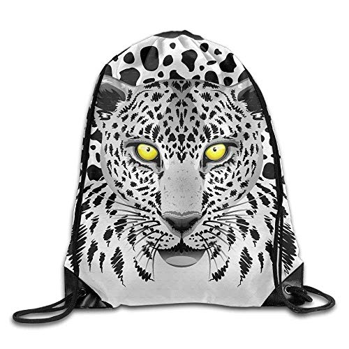 Tiger Print Drawstring Backpack Rucksack Shoulder Bags Gym Bag Sport Bag ()
