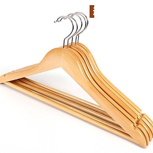 Log rack/ tinta legno antiscivolo hanger/ vestiti senza giunte prop/ stendini per uso domestico-C