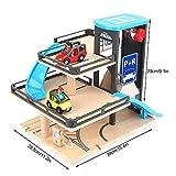 Zerodis- Parcheggio Modello Lega di Legno Tre Strati Car Garage Track Auto Giocattolo Sviluppare Brain Game Educazione Precoce Cognizione Giocattolo Compleanno Natale Regalo per 3 4 5 6 Anni Bambini