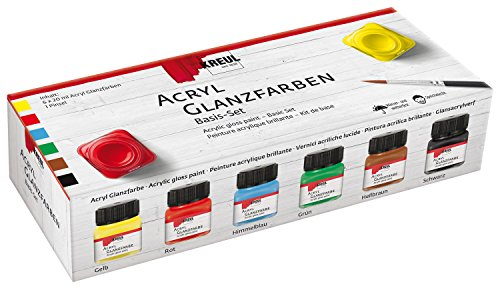 Kreul 79600 - Acryl- Glanzlack Creativ-Set, 6 x 20 ml