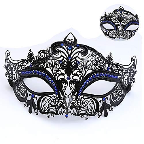 RISILAYS Halloween Maske, Metall Mit Strasssteinen, Venezianischen Stil, Männer Und Frauen Schmiedeeisen Maske Festival Maskerade, Erwachsene Prinzessin Halbe Gesichtsmaske ()