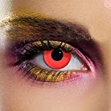 Funky Vision Kontaktlinsen - 3 Monatslinsen, Red, Ohne Sehstärke, 1 Stück