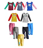 #6: Jisha Fashion Full Sleeves Tshirt Track Pants ( Combo of 5)