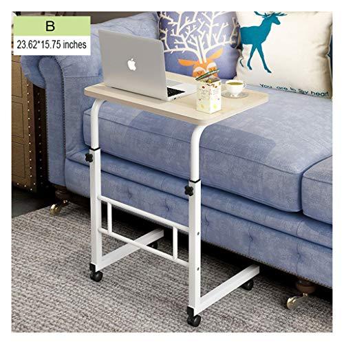 ELYSYSRL Couchtische Nachttisch Kann Heben Mobile Schreibtisch Laptop-Tisch Konsole Einfach Sofa Beistelltisch Kaffeetisch 23.62X15.75 Zoll-B -