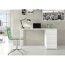 Mesas de estudio blanca Montada, pensada para mesa de ordenador o de escritorio, dimensiones (tapa superior 80 cm de largo x 60cm de ancho y 73cm de altura ) cajonera 4 cajones 40 cm ancho x 50cm fondo
