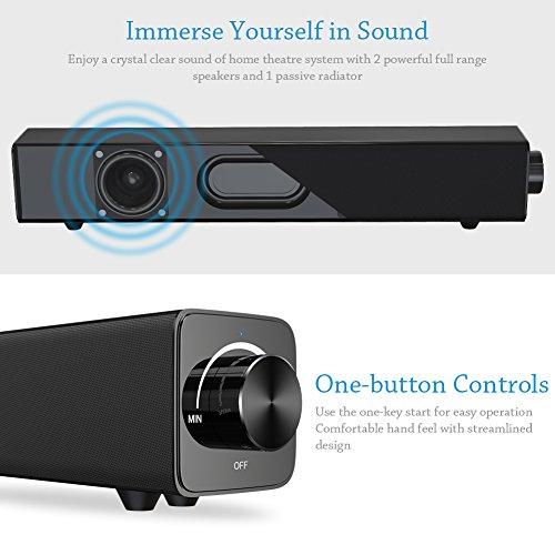 Zoom IMG-1 soundbar bluetooth portatile 20w 38cm