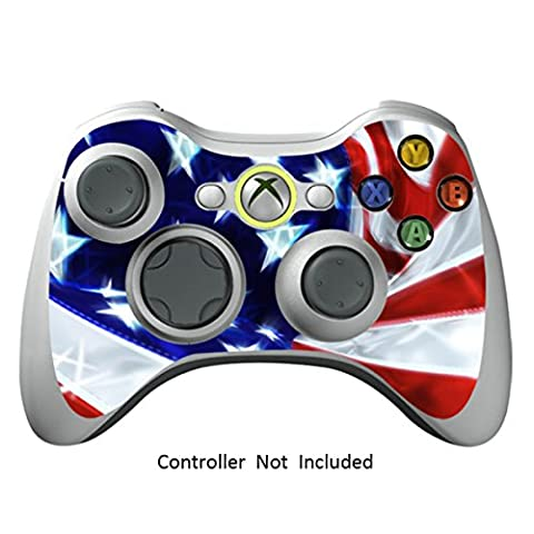 Manette Xbox 360 Peaux Jeux Xbox 360 Vinyle Autocollants Xbox 360 Décalcomanies - Star & Stripes