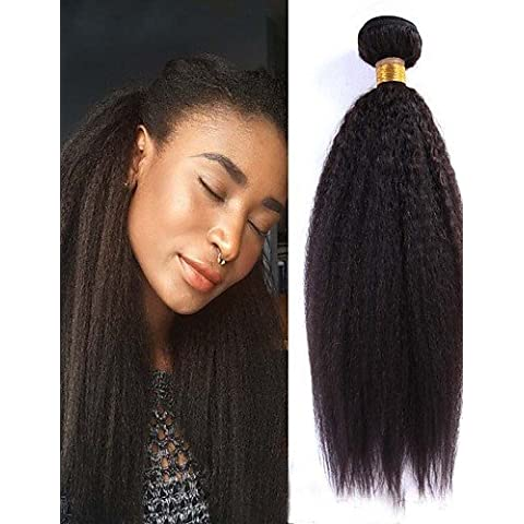 WHH/3pcs/lot 10–26pollici peruviano Virgin capelli umani Yaki lisci capelli vergini non trasformati Wave ciocche di (Di Yaki Dei Capelli Umani Weave)