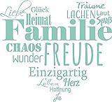 GRAZDesign 300207_57_WT055 Wandtattoo Familien - Tattoo als Herz an die Wand - Wand-Deko für Wohnzimmer/Schlafzimmer / Küche (63x57cm // 055 Mint)