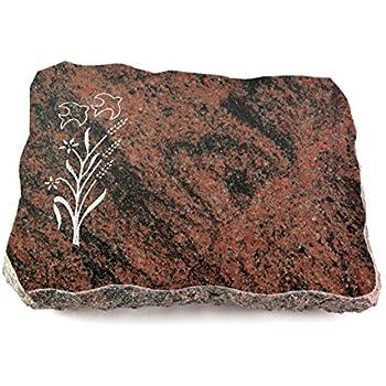 Bronze-Ornament Baum 1 Generic Grabplatte Grabstein Urnengrabstein Grabkissen Liegegrabstein Modell Folio 40 x 30 x 5 cm Aruba-Granit poliert inkl Gravur