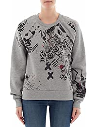 BURBERRY Women's 4065027 Grey Cotton Sweatshirt