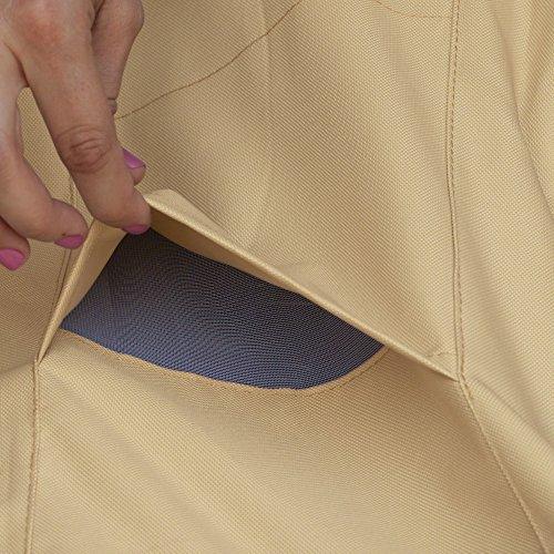 Classic Accessories Patio-Heizpilz-Abdeckung für die Terrasse, Kiesel, Passend für Heizpilze bis zu 86,36 cm Kuppel und 46,99 cm Boden - 8