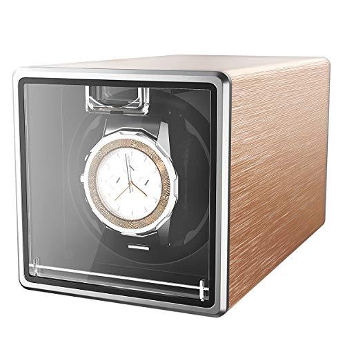CRITIRON Automatischer Uhrenbeweger für 1 Uhr Uhrenbox Uhrendreher Uhrenwender Watch Winder für Automatikuhren (1 Uhr Rotgold)