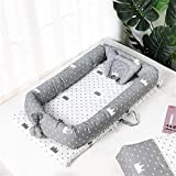 CULASIGN Babynest Babynestchen Baby Nest Nestchen - für Babybett SET Liegekissen 100% Baumwolle 90 x 50cm