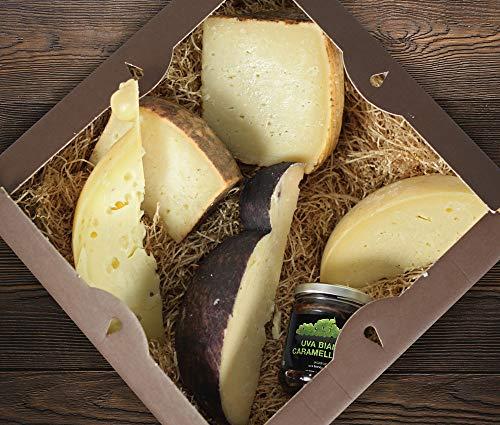 Geschenkbox mit Auswahl unserer Käse und Marmelade