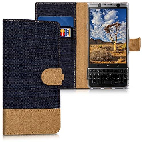 kwmobile BlackBerry KEYone (Key1) Hülle - Kunstleder Wallet Case für BlackBerry KEYone (Key1) mit Kartenfächern und Stand