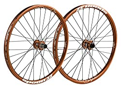 Spank Spoon32 Evo 26 Inch Wheels Wheel Set 20 Mm 12 X 150 Mm, Unisex, Spoon32 Evo 26 Zoll Wheelset 20 Mm, 12150 Mm, Orange, 26 Inches