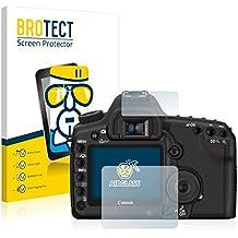 BROTECT AirGlass Protector Pantalla Cristal Flexible Transparente para Canon EOS 5D Mark II Protector Cristal Vidrio - Extra-Duro, Ultra-Ligero, Ultra-Claro
