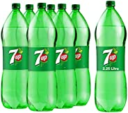 7up Carbonated Soft Drink, Plastic Bottle, 2.25 Litre x 6